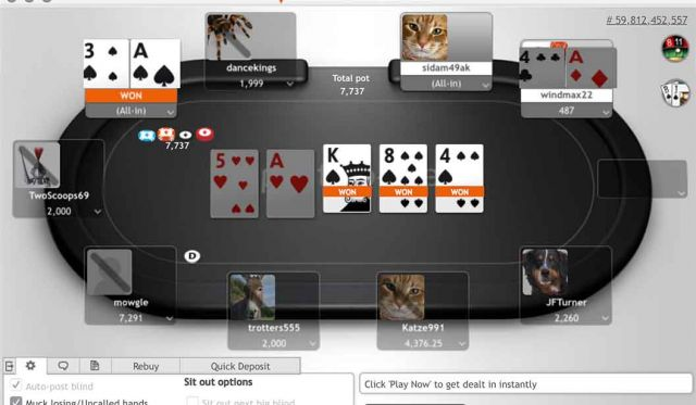 Poker en ligne Play Money